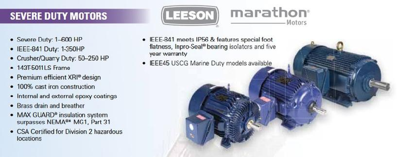 LEESON Severe Duty Motors